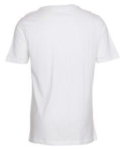 Hvid t-shirt med v-hals til mænd