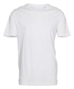 Basic T-shirt slim fit - V-hals - Hvid